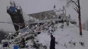 В Брянске на Кургане Бессмертия демонтировали трамплин