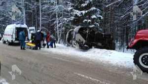 В Брянском районе перевернулась маршрутка – пострадали два пассажира