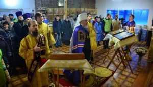 В Успенском храме Карачева прошло второе богослужение за 200 лет