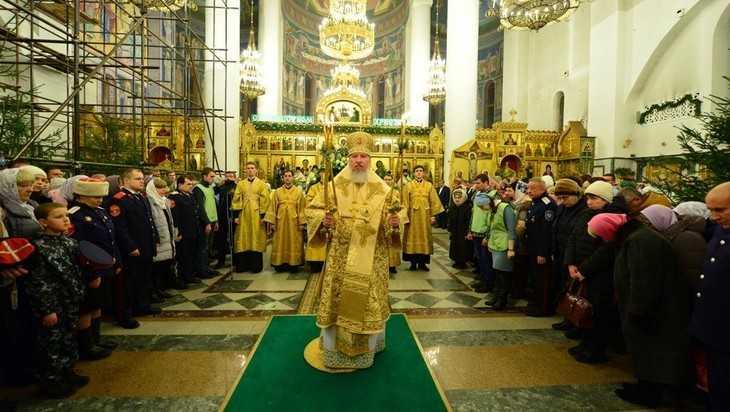 В Брянском Кафедральном соборе на Рождество прошло Богослужение