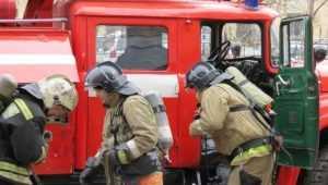 В Жуковке потушили загоревшийся из-за опилок склад