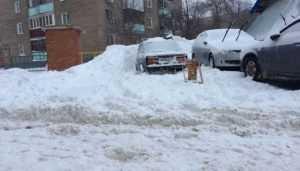 Тонущие в снежной каше жители Брянска подали сигнал бедствия