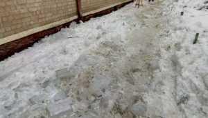 Жителей Брянска возмутило ледяное безобразие на улице Фокина