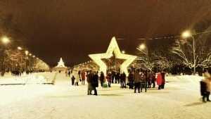 Фотозона на Кургане в Брянске собрала очередь из любителей селфи