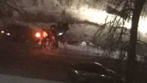 В Путёвке Брянского района перевернулся легковой автомобиль