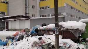 В Брянске закрытый ТРЦ Тимошковых на Красноармейской утонул в мусоре