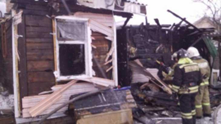 На станции Снежетьской под Брянском сгорел дом