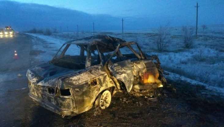 В Унечском районе Брянской области на трассе сгорел автомобиль