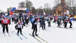 На «Лыжню России» вышли пять тысяч брянцев