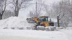 Почти 300 машин чистят брянские дороги после снегопада