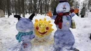 В Брянске выбрали лучших снеговиков
