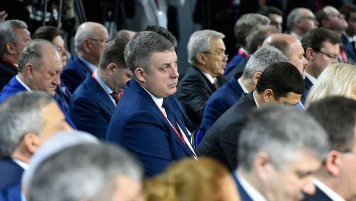 Брянский губернатор Богомаз обсудил в Сочи выполнение нацпроектов