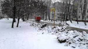В Брянске дорожники самоотверженно спасли от снега остановку-призрак