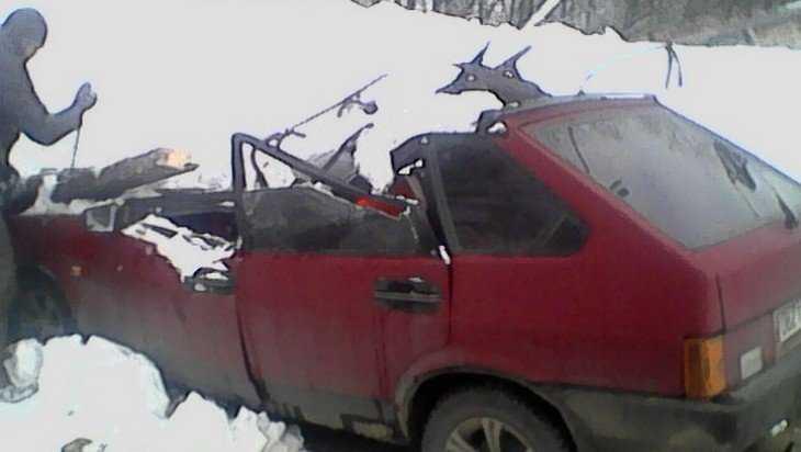 В Брянске на стоянке рухнувшая из-за снега крыша разбила легковушку