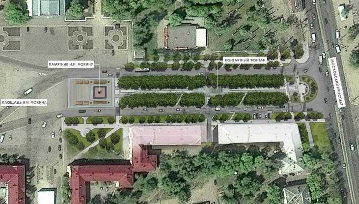 Жителям Брянска показали, как преобразится сквер Игната Фокина