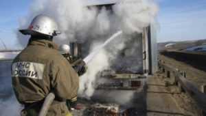 В Клинцовском районе на трассе сгорел грузовик