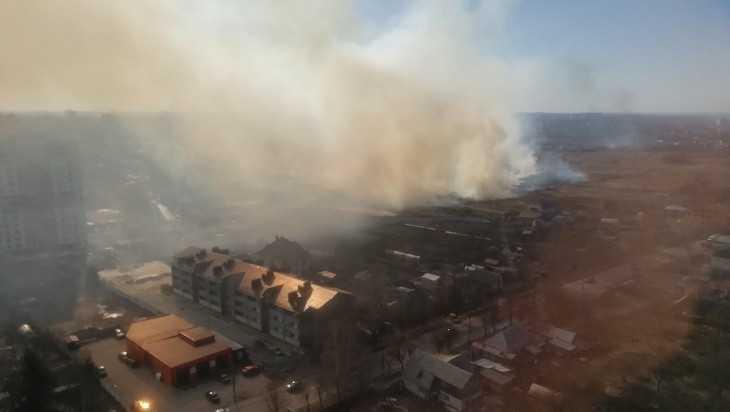 Огонь подошел вплотную к жилым кварталам Брянска