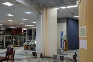 В Брянске краеведческий музей залило водой из-за протекающей крыши
