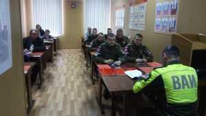 Брянская военная комендатура провела месячник безопасности движения