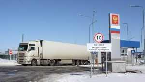 В Троебортном на выезде из Брянской области скопилась сотня грузовиков