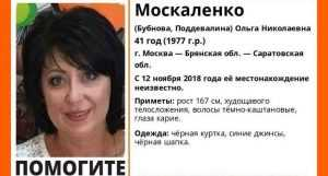 В Брянской области начали искать пропавшую в ноябре Ольгу Москаленко