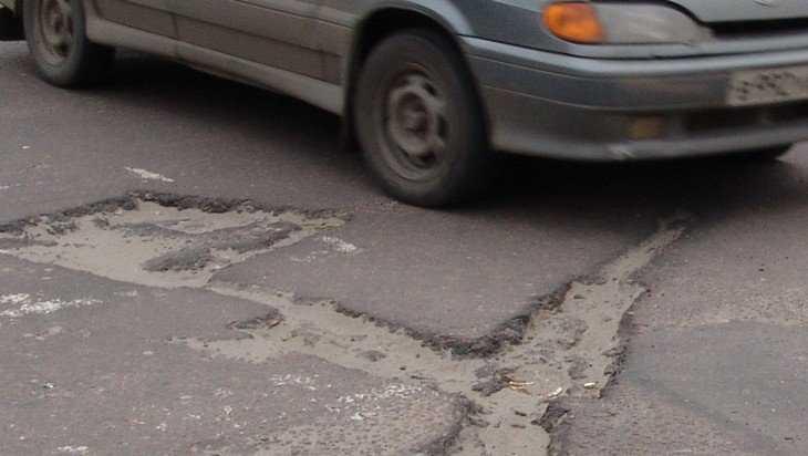 Брянские автомобилисты возмутились огромными ямами на Спартаковской