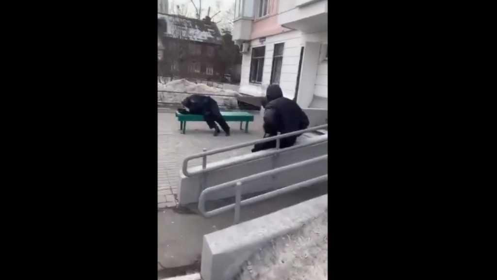 В сети появилось видео с уснувшими на улице пьяными полицейскими