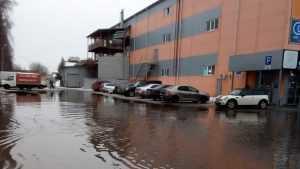 В Брянске после потопа у «Свенской ярмарки» образовался каток