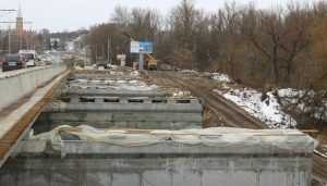 В Брянске Первомайский мост построили на 60 процентов