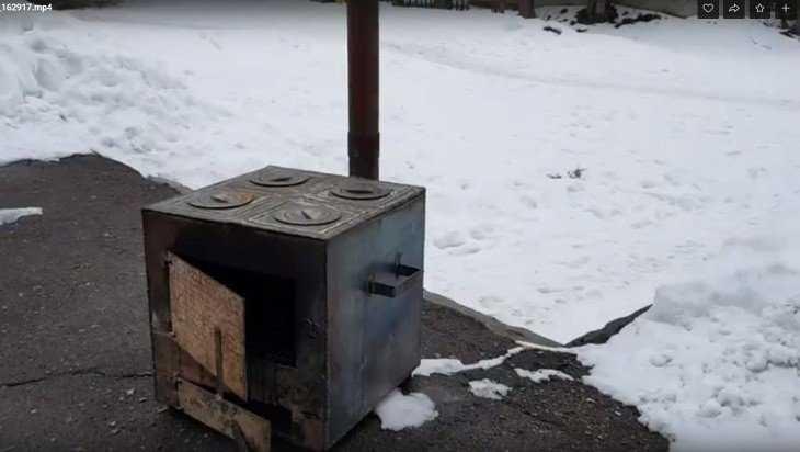 В Белых Берегах уже поставили печь для блинов на Масленицу