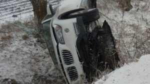 Возле Дятькова парни разбились в перевернувшемся BMW