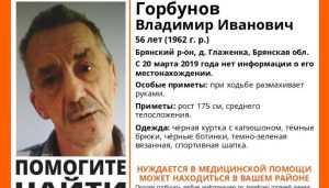 В Брянском районе пропал 56-летний Владимир Горбунов