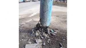 В Брянске нашли опасную электроопору