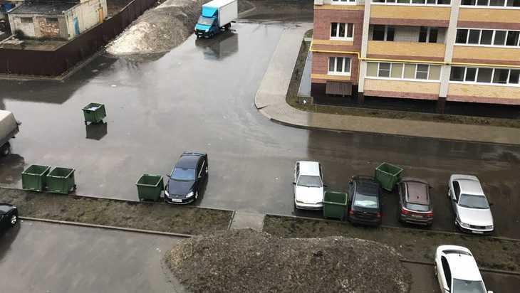 В Брянске взбесившиеся от ветра мусорные баки побили автомобили