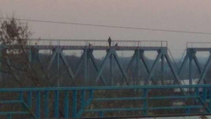 В Брянске малолетние экстремалы забрались на вершину моста