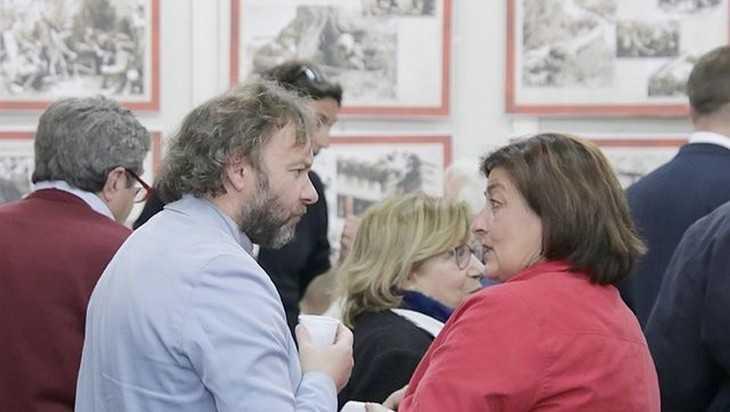 Итальянцев впечатлила выставка о брянских партизанах