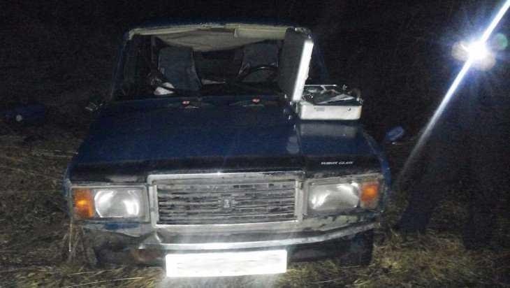 Под Брянском оторвало палец пассажирке съехавшей в кюветмашины