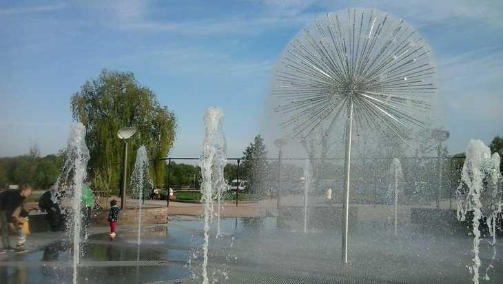 В Брянске на набережной заработал фонтан-одуванчик