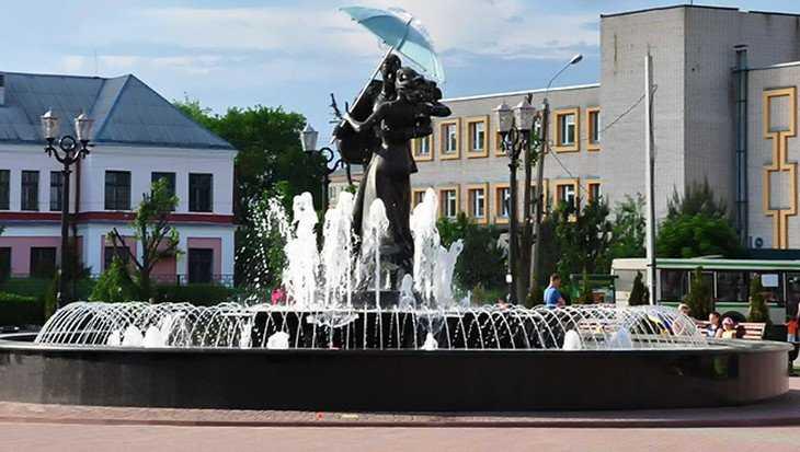 В Клинцах включат фонтан под зонтиком