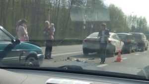 Под Брянском в ДТП с 4 автомобилями пострадали два человека