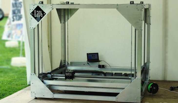 Российским производителем сконструирован большой 3д принтер