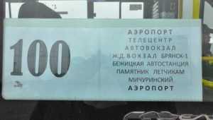 В Брянске от вокзалов до аэропорта начала ходить маршрутка № 100