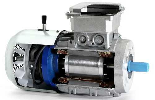 Электродвигатель с электромагнитным тормозом