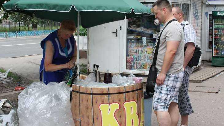 Брянские торговцы квасом начали большой сезон
