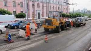 В Брянске приступили к ремонту ливнёвки на проспекте Ленина
