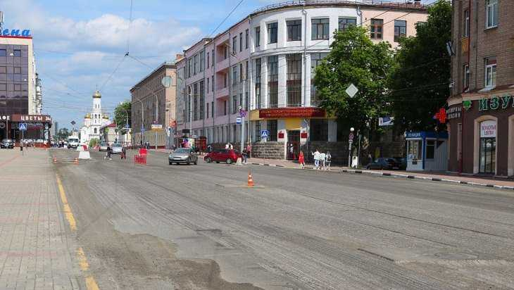В Брянске приступили к укладке выравнивающего слоя на проспекте Ленина