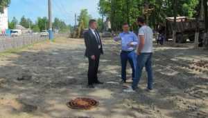 Власти Брянска забраковали часть ливнёвки на Московском проспекте