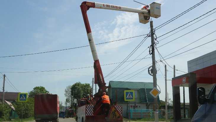 В Брянске вместе с дорогами отремонтируют уличное освещение