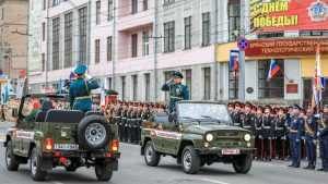 В Брянске на проспекте Ленина прошла репетиция военного парада