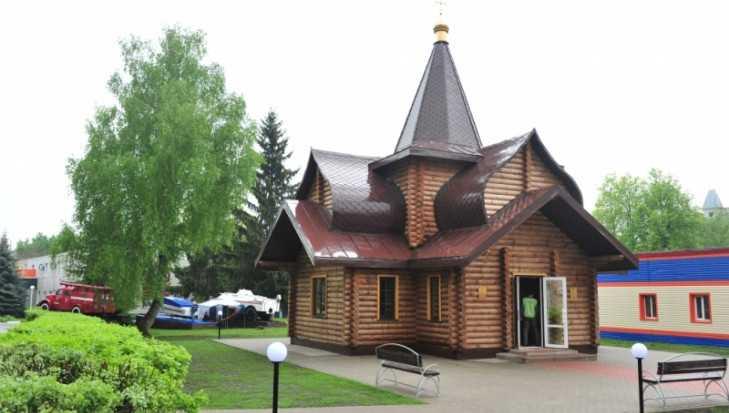 В Брянске возле управления МЧС освятили храм «Неопалимая купина»
